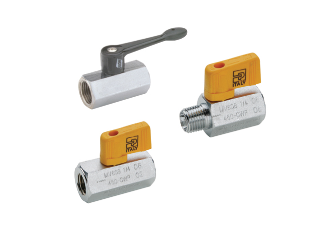 Mini Ball Valve - Chrome Plated Brass