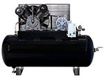10 HP Three Phase 230V 120 Gallon Horizontal Two Stage with Century motor