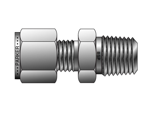 CPI Inch Tube BSPT Male Connector - FBZ