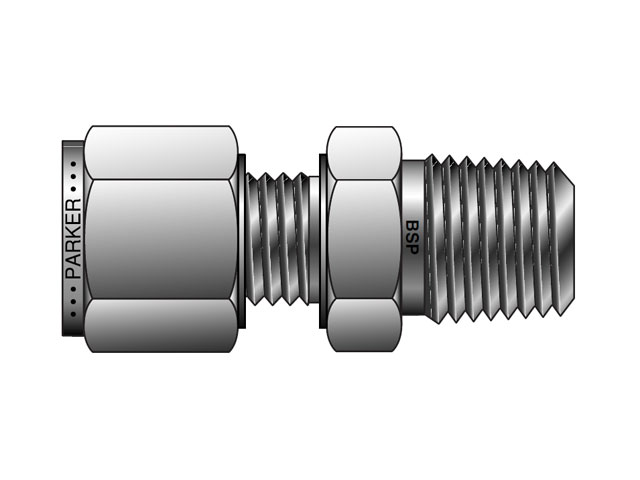 CPI Metric Tube BSPT Male Connector - FBZ