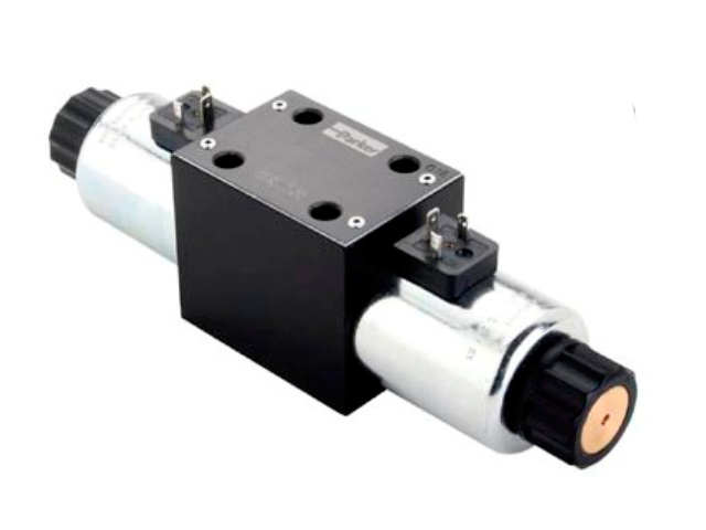 D3W Series - Single solenoid, 2 position, spring offset P > A
