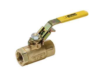 VP500P-6 Brass Ball Valve - Locking Handle - VP500P